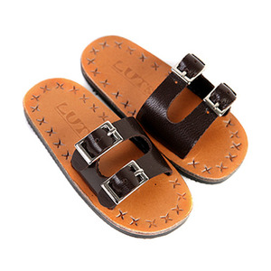 SBS-07 BUCKLE SLIPPER (Chocolate)