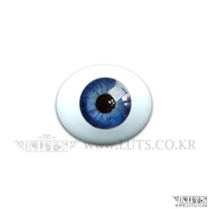 12MM Real Type Glass Eyes Cobalt