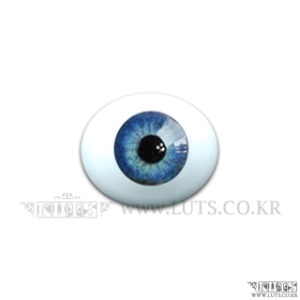 12MM Real Type Glass Eyes Blue