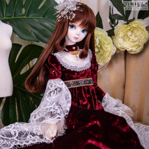 SDF Graceful Velvet Set (Wine)