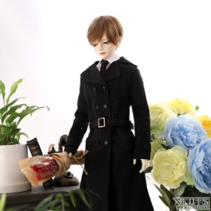 SDF65 Black Trench coat