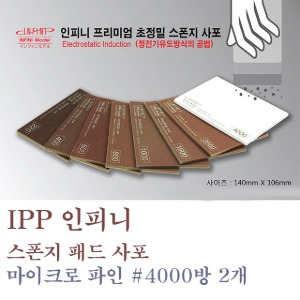 IPP Infini Sponge Pad Sandpaper #4000 Room Quick Shine 2 Pieces ISP-4000G